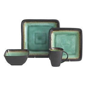 Max Jade 16-Pc. Stoneware Dinnerware Set - Service for 4  sc 1 st  Gettington & Gettington - Baum Bros. Galaxy 16-Pc. Dinnerware Set