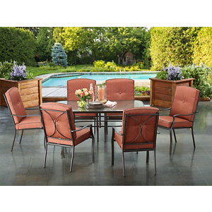 High Quality Alcove Sunningdale 7 Pc. Cushioned Patio Dining Set