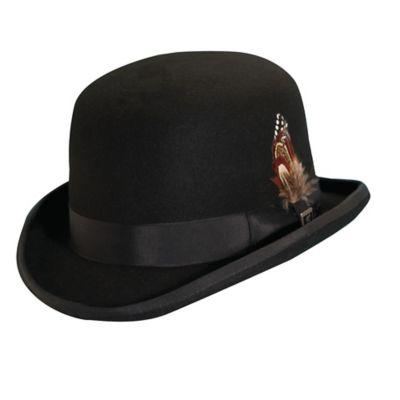 Fingerhut - Stacy Adams Men s Wool Derby Bowler Hat - X-Large dc9fcd6409c4