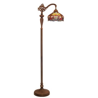 River of goods stained glass baroque floor lamp