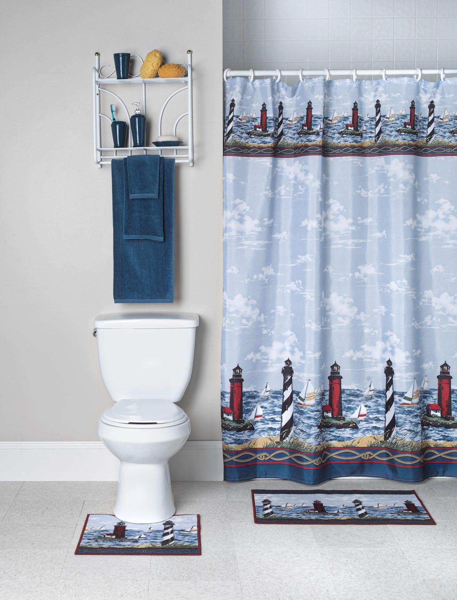 Fingerhut Lighthouse Complete Bath Set, Lighthouse Bathroom Sets