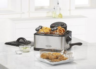 Chef's Mark XL 16.8-Cup 1700-Watt Stainless Steel Deep Fryer with 3 Baskets photo