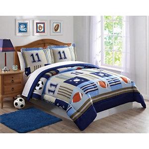 Laura Hart Denim And Khaki Sports Comforter Set