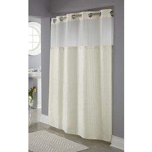 Hookless Classic Herringbone Shower Curtain With PEVA Liner