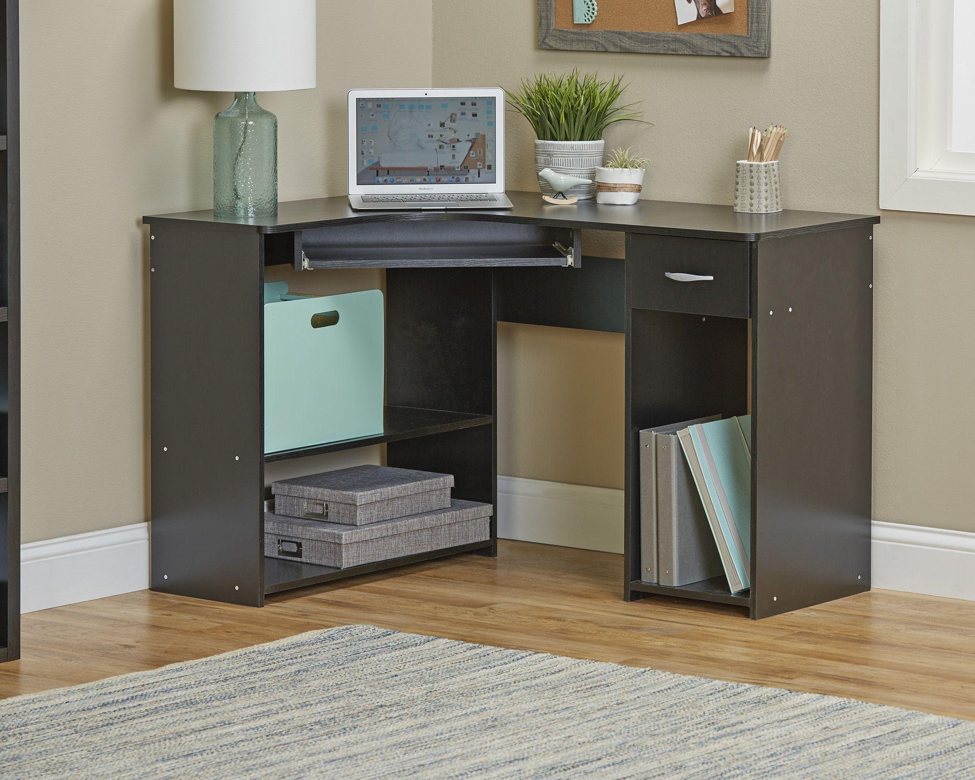 Fingerhut - alcove Corner Computer Desk - Black