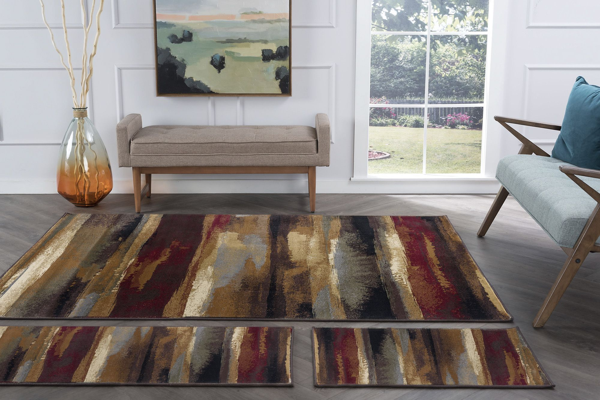 Tayse Rugs Sierra Contemporary 3 Pc, Rug Sets For Living Rooms