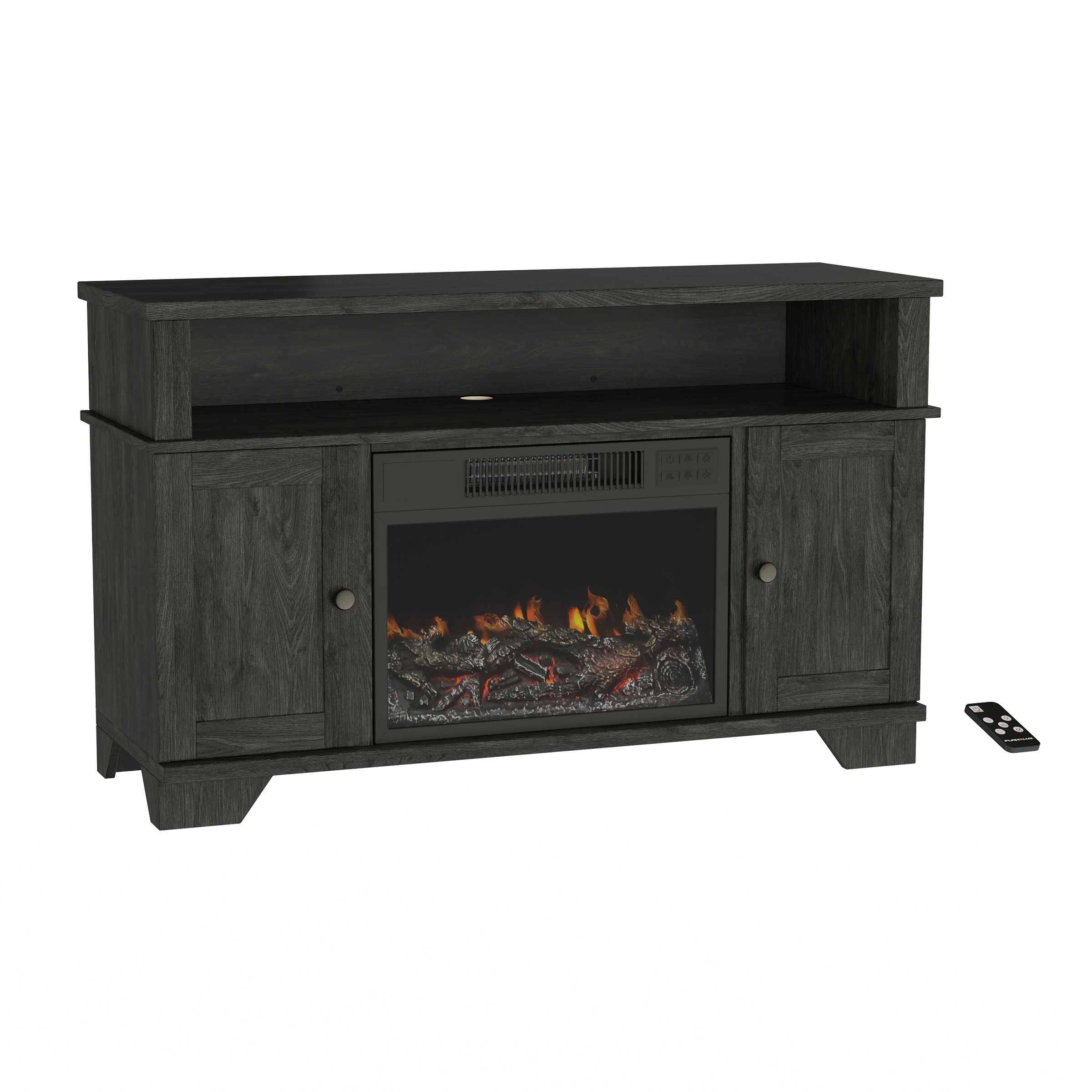 Northwest Electric Fireplace TV Stand with Storage   fits tv up to 20