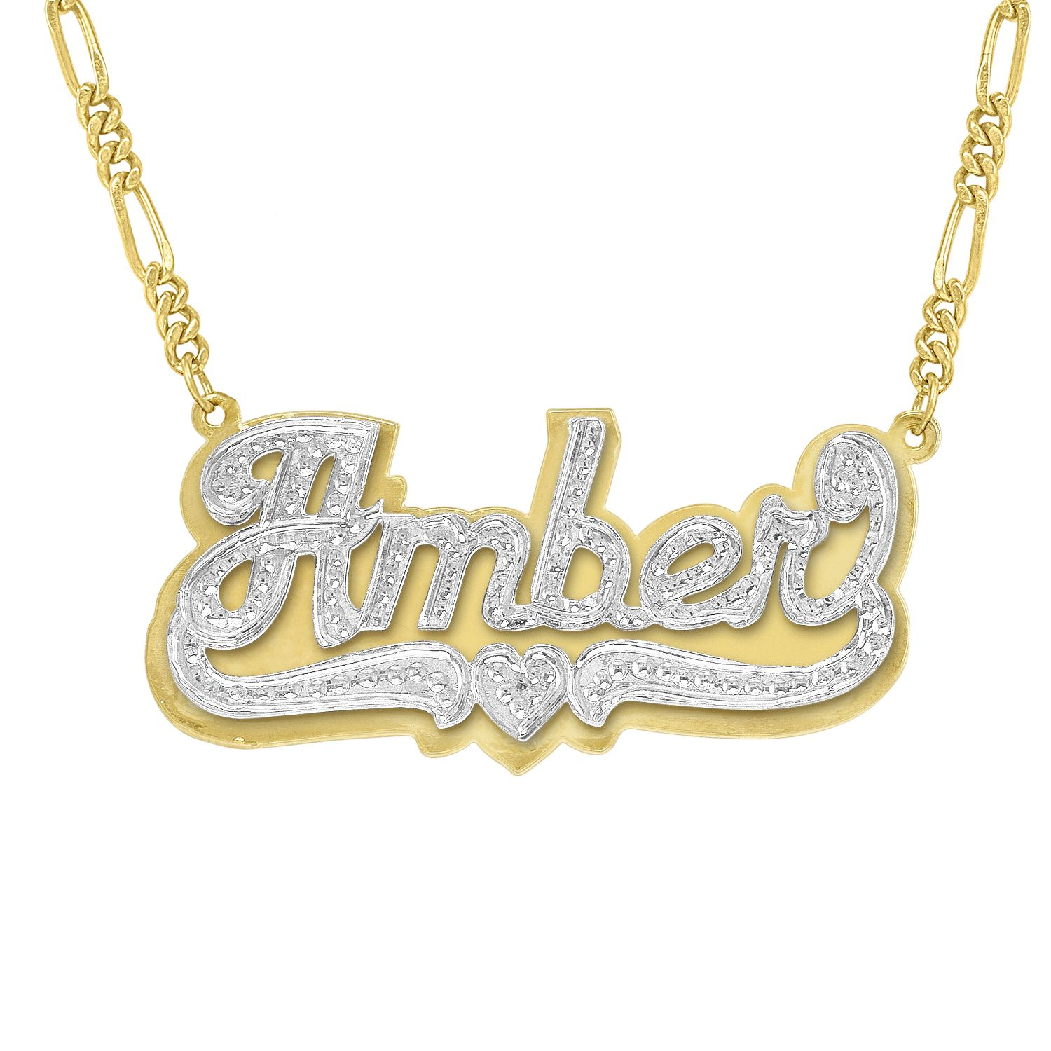 18K Gold Plated Chain With Name//My Name Chain and Name Plate Any Name Necklace Gold Plated Personalized Hand Made Jewelry