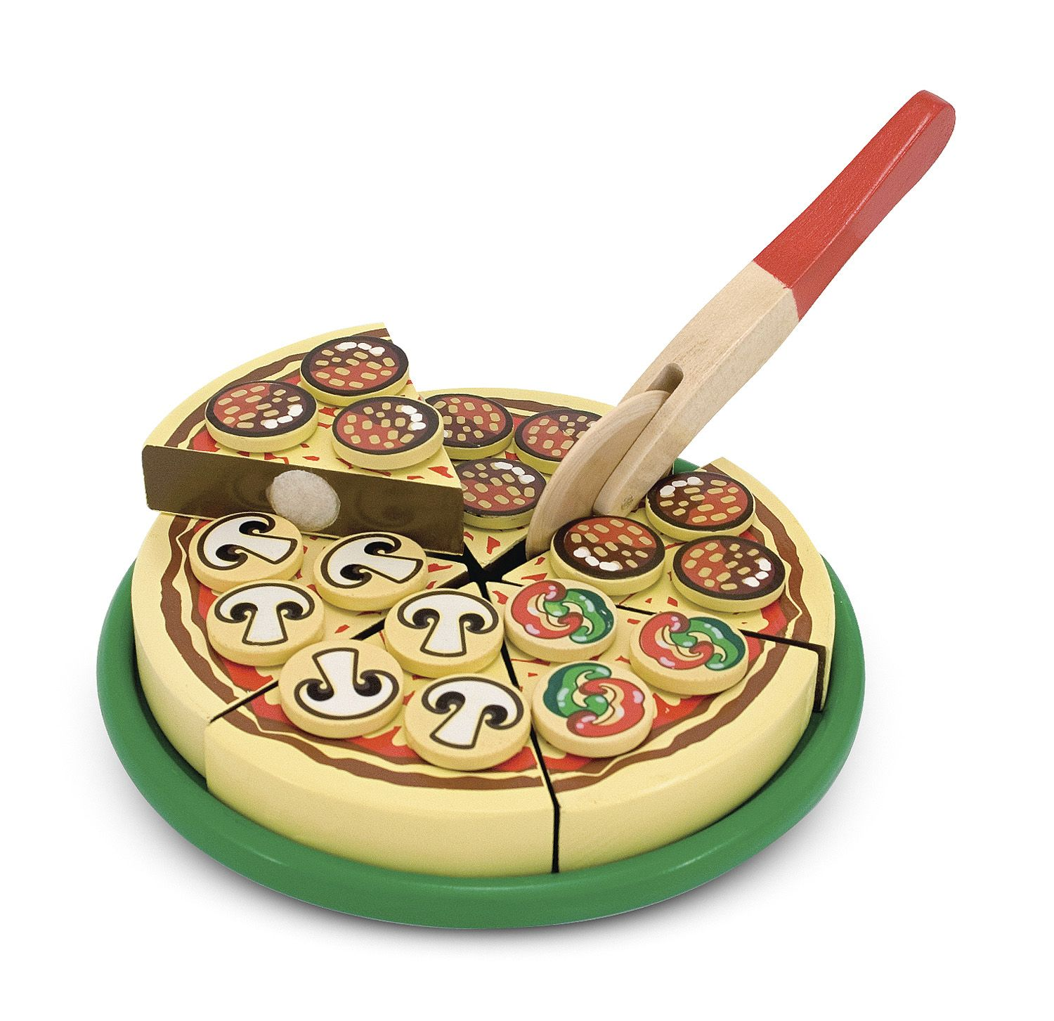 Pizza Slice and Pizza Cutter Charm for Food or Party Themed Jewelry or Gifts