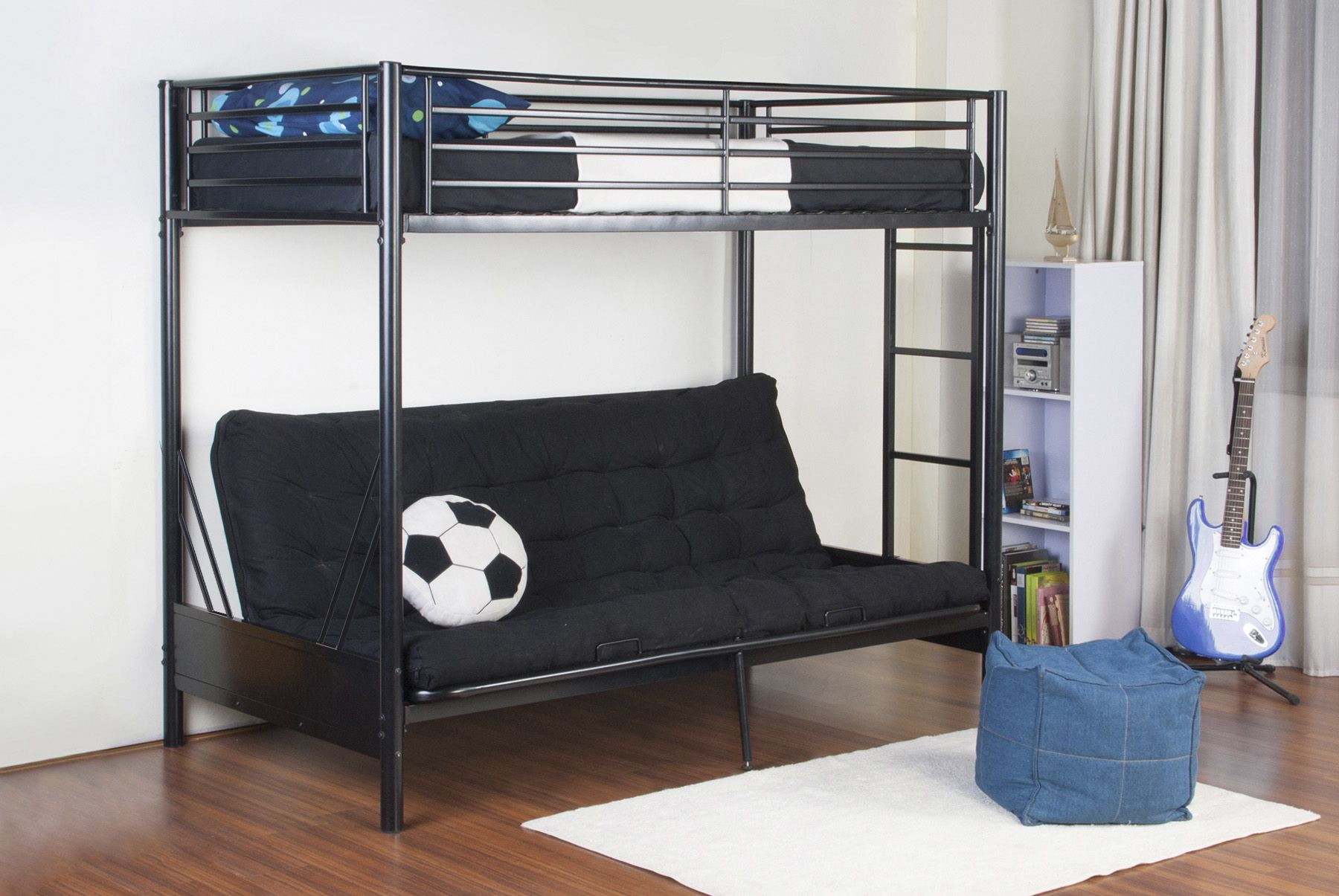 Fingerhut Rebel Rise Akia Twin Full Futon Bunk Bed