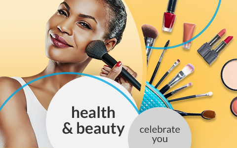 Health & Beauty shop page hero