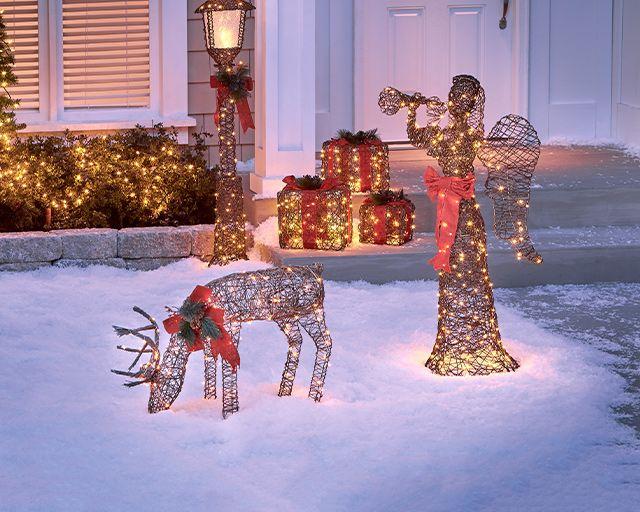 lighted yard art decor