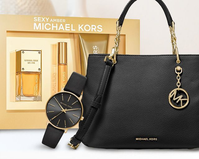 Michael kors beauty set and purse