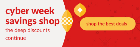 cyber week savings shop the deep discounts continue. Shop the best deals.