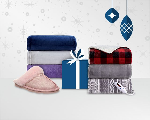 cozy holiday gifts shown.