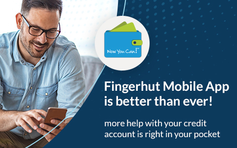 Now you can! Fingerhut Mobile App is better than ever! more help with your credit account is right in your pocket.