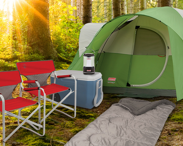 12 piece camping prize bundle entry period ends 7/15/21.