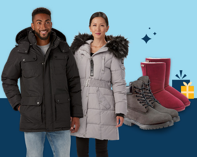 winter warmth, coats, outerwear & boots