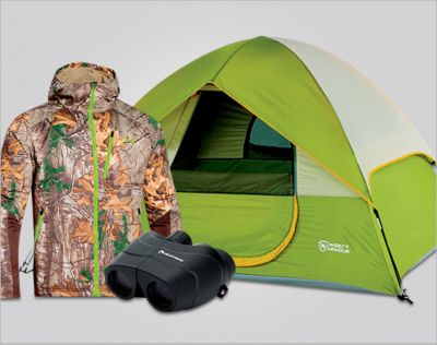 The Great Outdoors. Hunting, fishing & camping. Up to 30% OFF*