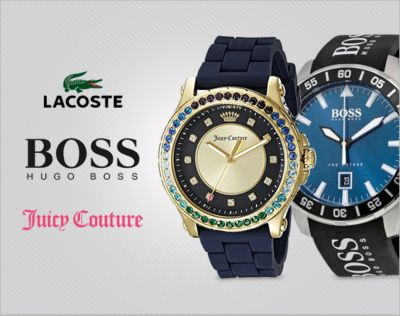 Designer Watches. From Hugo Boss, Juicy Couture, Lacoste. 20% OFF*.