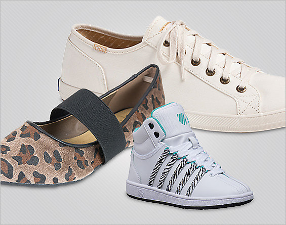 Fab Footwear for Him & Her. Kicks from Keds, K-Swiss, more. Under $30.