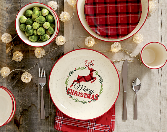 McLeland Design Noelle Holiday Dinnerware set