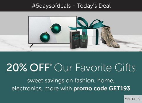 Links to Today's deal: Take 20% OFF our favorite gifts with promo code GET193!