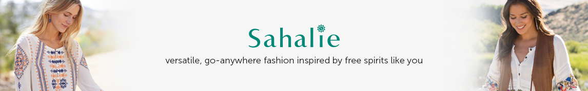 Links to: Sahalie - versatile, go-anywhere fashion inspired by free spirits like you.