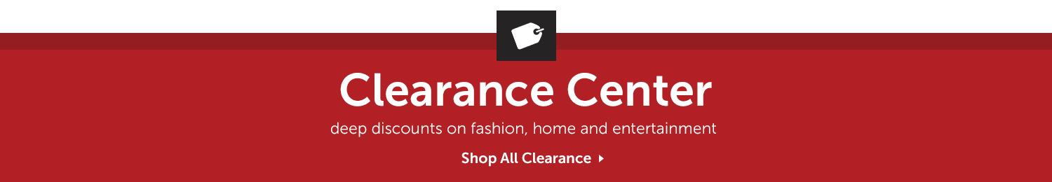 CLEARANCE CENTER. Deep discounts on fashion, home and entertaiment. Shop All Clearance.