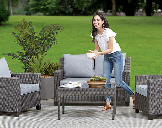 Patio furniture sets.