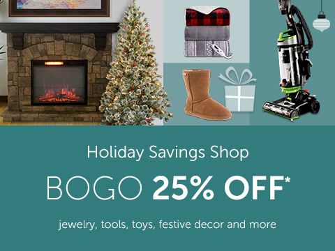 Holiday Savings Shop - jewelry, tools, toys, festive decor and more!