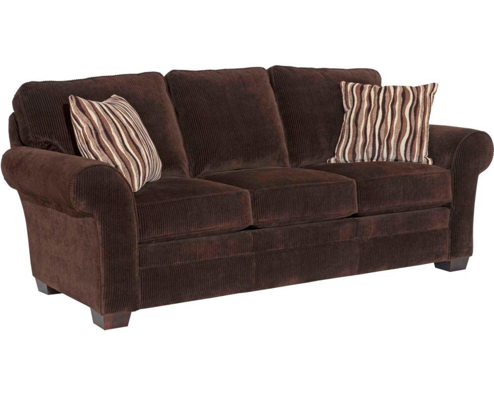 Broyhill Zachary Sofa Leather Refil Sofa