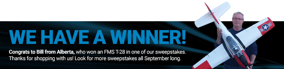 Congratulations to Bill from Alberta, winner of an FMS T-28