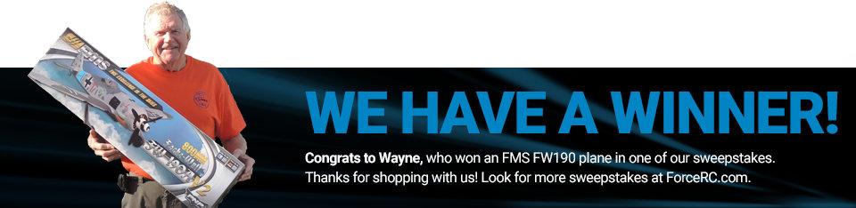 Congratulations to Wayne, winner of an FMS FW190!