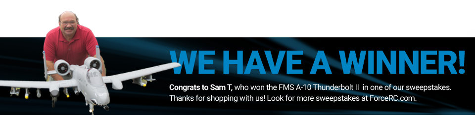 Congratulations to Sam T, winner of the FMS A-10 Thunderbolt II!