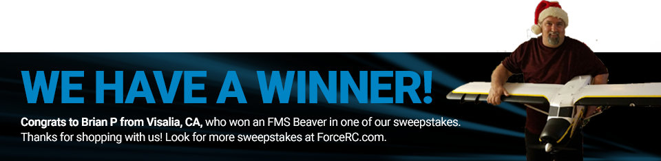 Congratulations to Brian P from Visalia, CA, winner of an FMS Beaver!