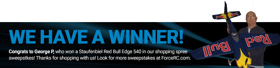 Congratulations to George P, winner of a Staufenbiel Red Bull Edge 540!