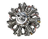 Evolution Engines - 7-Cylinder 260cc 4-Stroke Gas Radial Engine