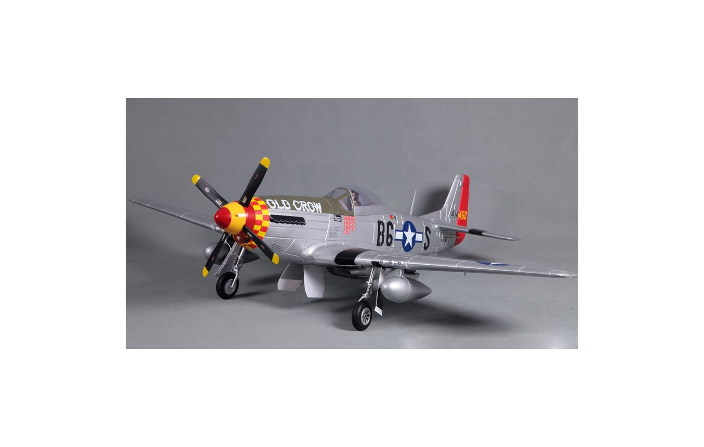 Image for P-51D V8 Old Crow PNP, 1450mm from Force RC