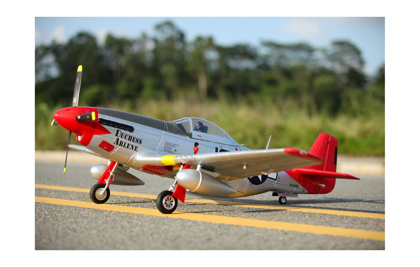 Image for P-51D Red Tail V8 PNP, 1450mm from Force RC