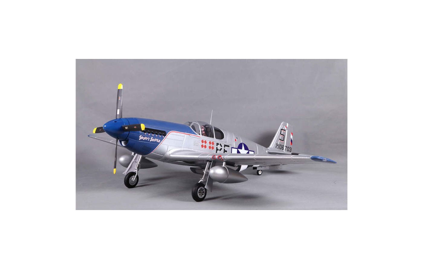 Image for P-51B Snoot's Sniper PNP, 1450mm from Force RC