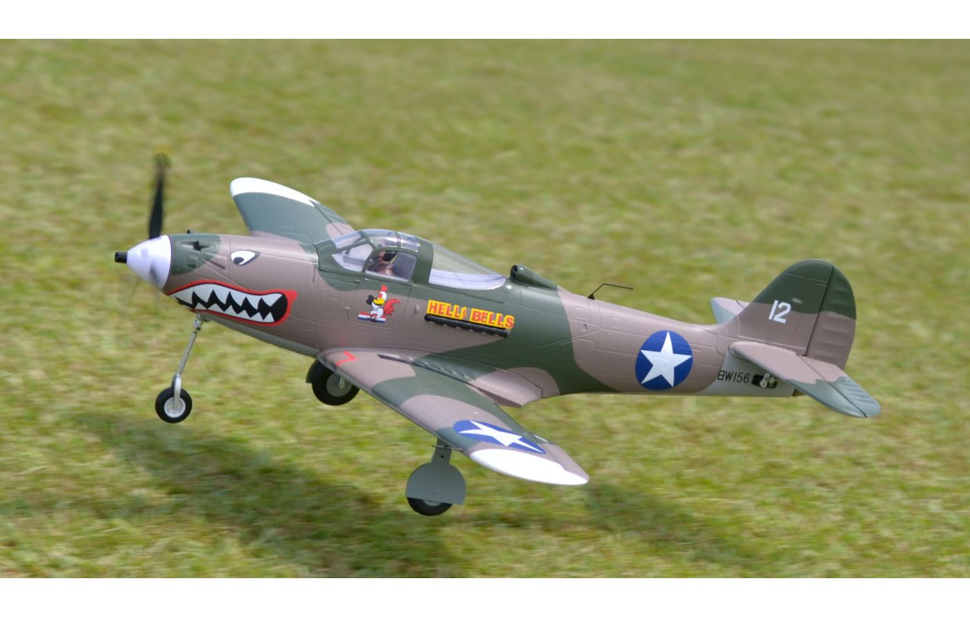 Image for P-39 Hells Bells PNP, 980mm: Camo from Force RC