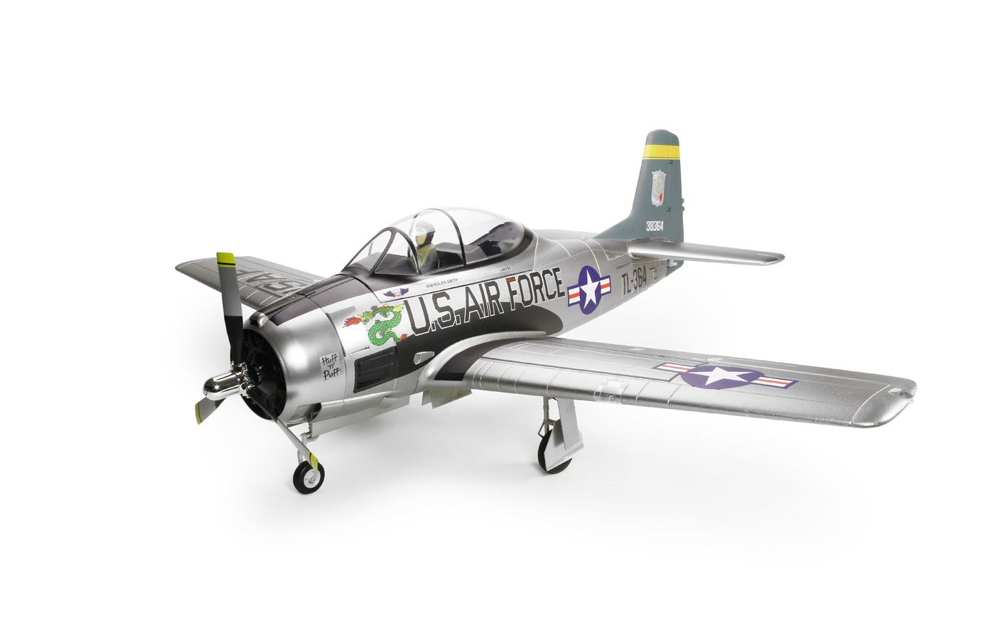 Image for T-28D Trojan V4 PNP, 1400mm: Silver from Force RC