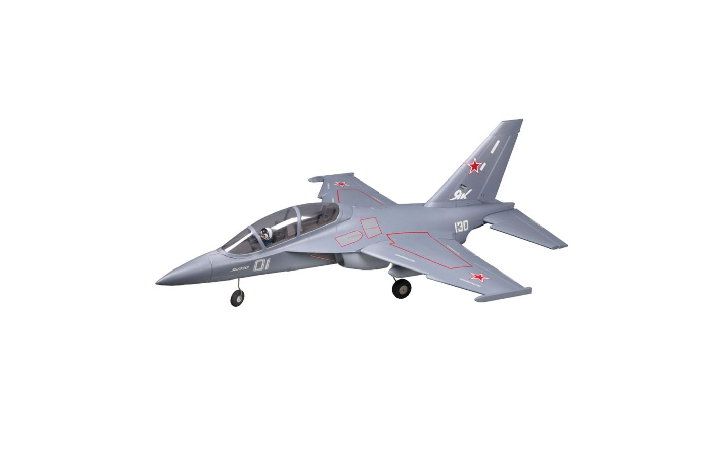 Image for Yak 130 Jet PNP, 70mm: Gray from Force RC