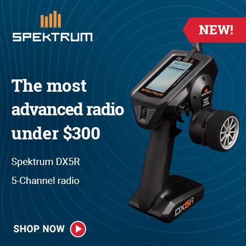 SPM5000 Spektrum DX5R 5-Channel DSMR Transmitter with SR6000T