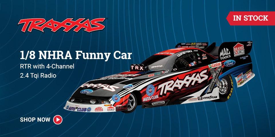 TRA6907 Traxxas 1/8 NHRA Funny Car RTR with 4-Channel 2.4 Tqi Radio