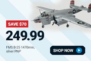 FMM025PSIL FMS B-25 Mitchell 1470mm Silver PNP