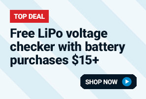 Free LiPo voltage checker with battery purchases over $15