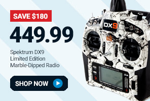 SPMR9900LTDM Spektrum Limited Edition DX9 Transmitter with Marble Finish