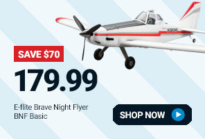 EFL6950 E-flite Brave Night Flyer 1.2m BNF Basic with AS3X